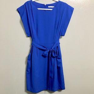Eliza J Royal Pleated Waist-Tie Sheath Dress 4